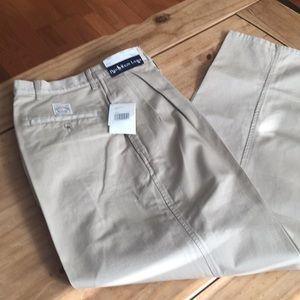 New With Tags;  Polo Ralph Lauren tan chinos;36x32